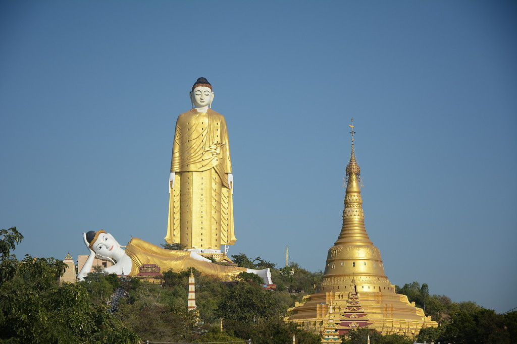 Boddhi Tataung, apparently the worlds tallest standing buddha