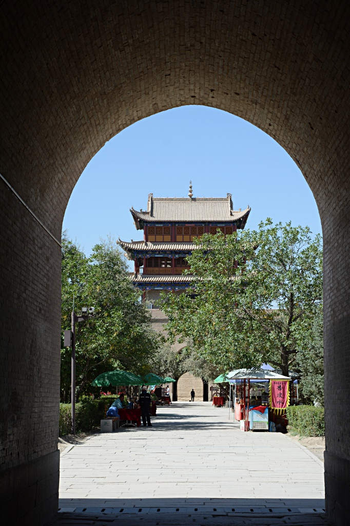 Solid walls of the Fort of Jiayuguan