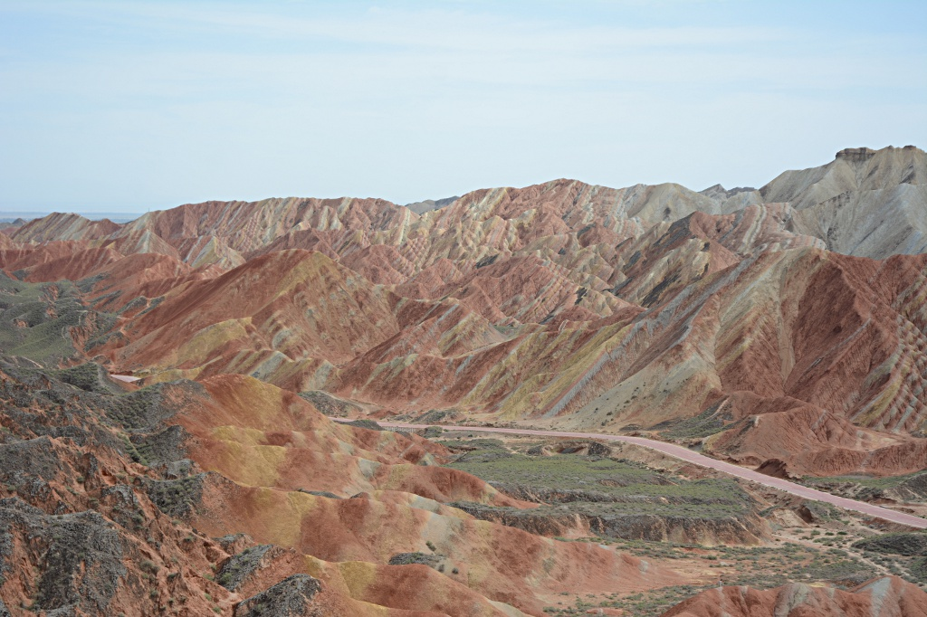 The Danxia landforms near Zhangye