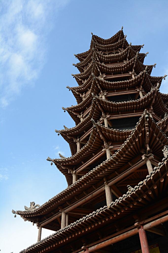 Wooden pagoda in Zhangye