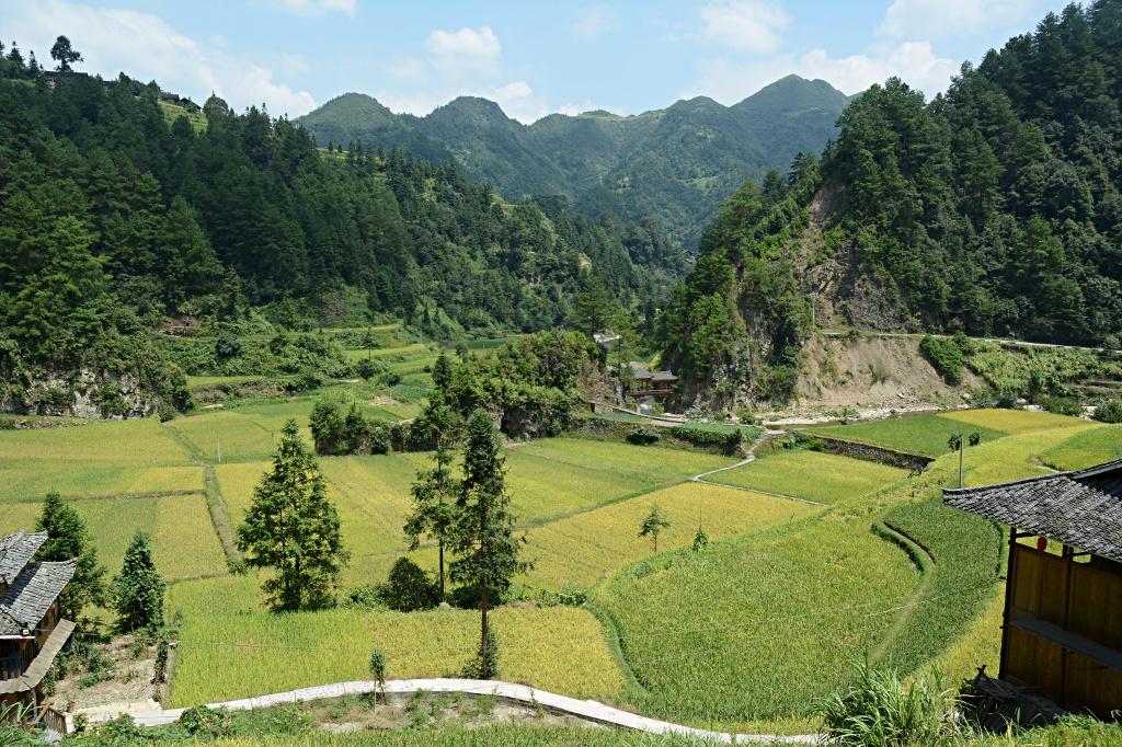 Typische Landschaft in Guizhou