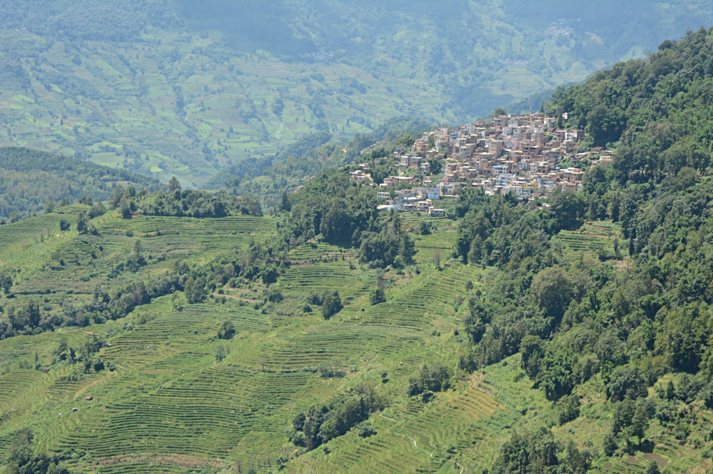 The villages above the rice-terraces