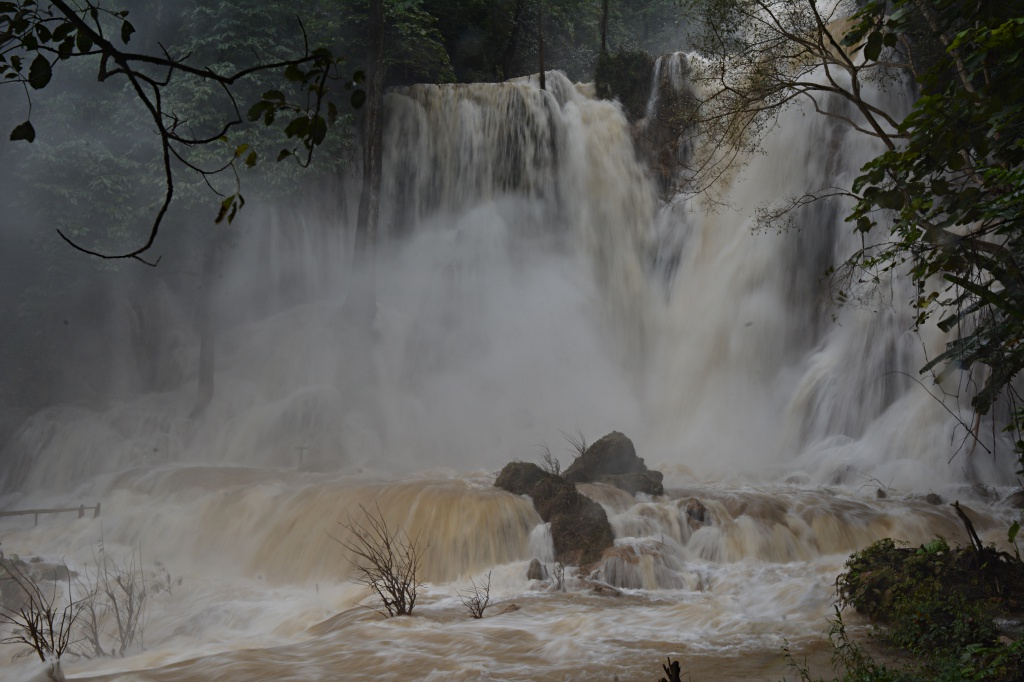More water than anticipated at the Kuang Si waterfall