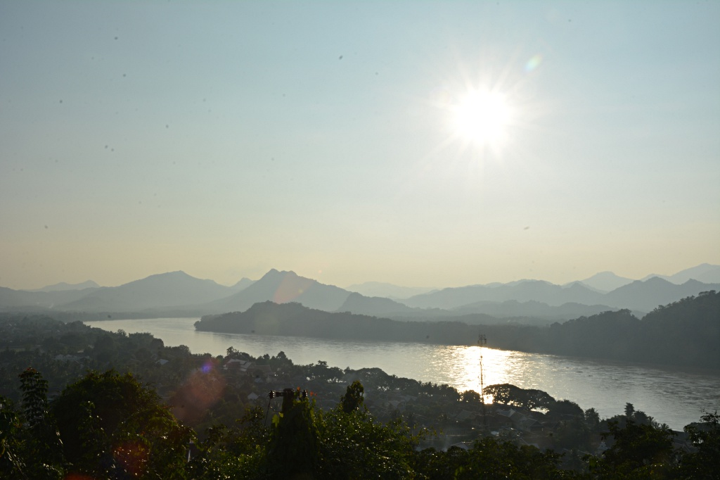Late afternoon over the Mekong river in Luang Prabang