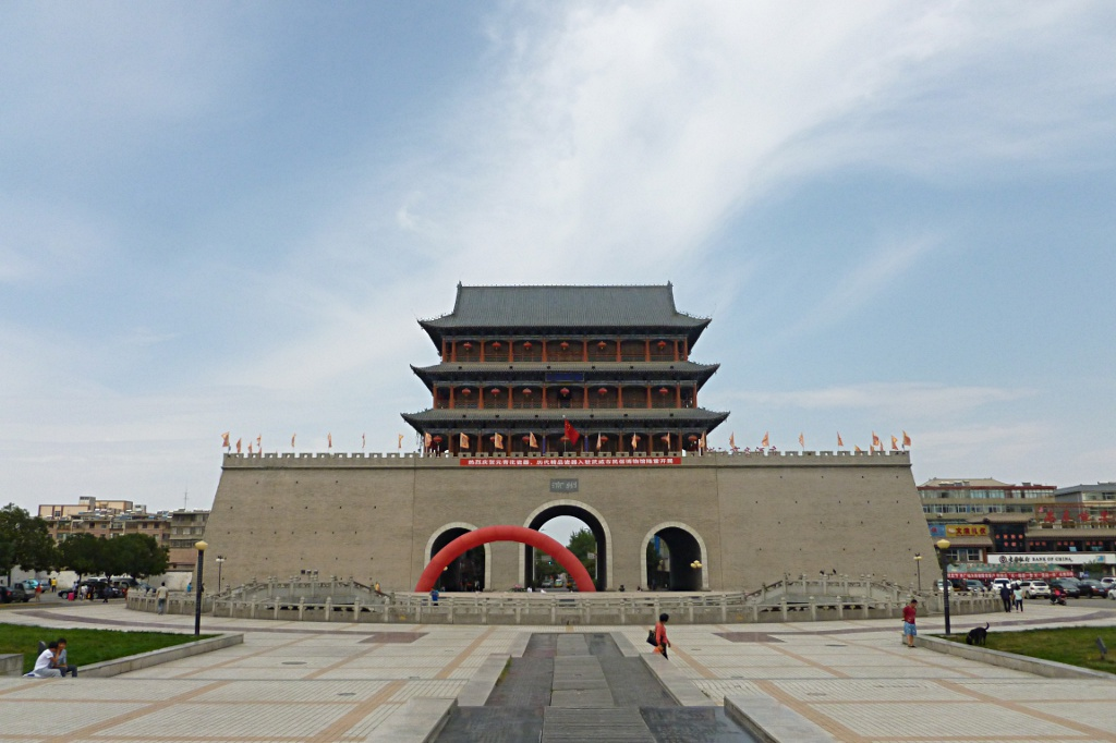 Brand new historic south gate in Wuwei