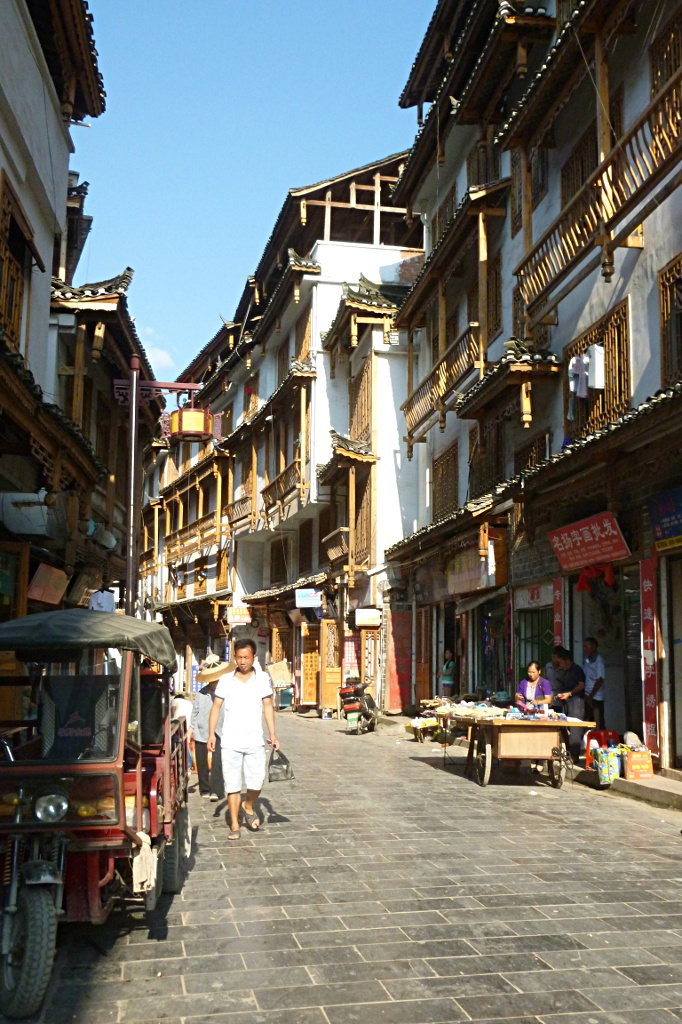 """Traditional architecture in the """"old town"""" of Kaili"""