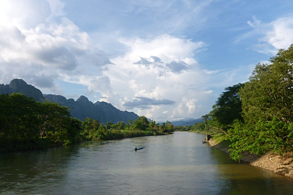 Beautiful carst landscape in Vang Vieng