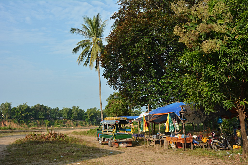 Colorful place in Attapeu besides the Sekong river