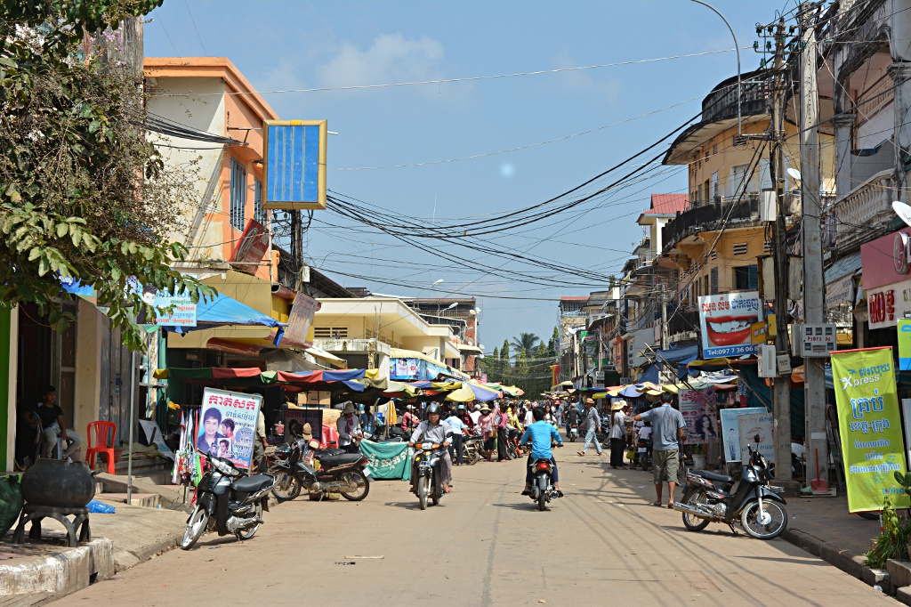 The streets of Kratie