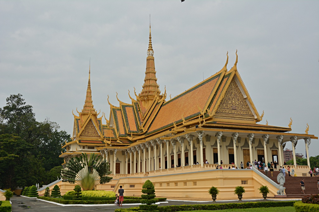 Thronhalle des Palastes in Phnom Penh