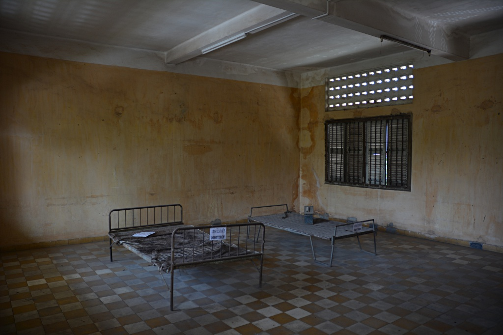 Interrogation and torture cell at Tuol Sleng prison