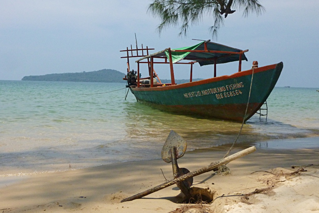 Relaxing on Bamboo Island near Sihanoukville