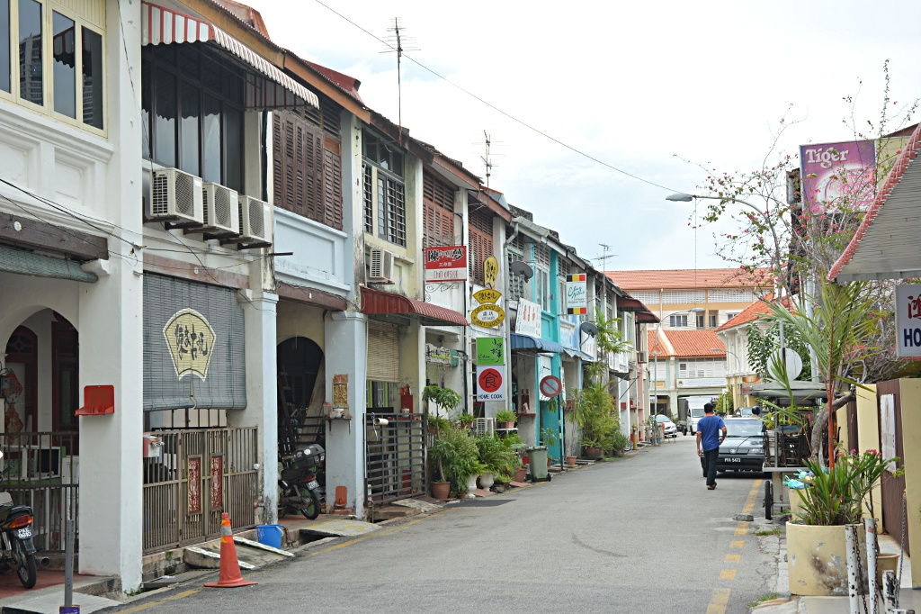 The streets in George Town's old town have character