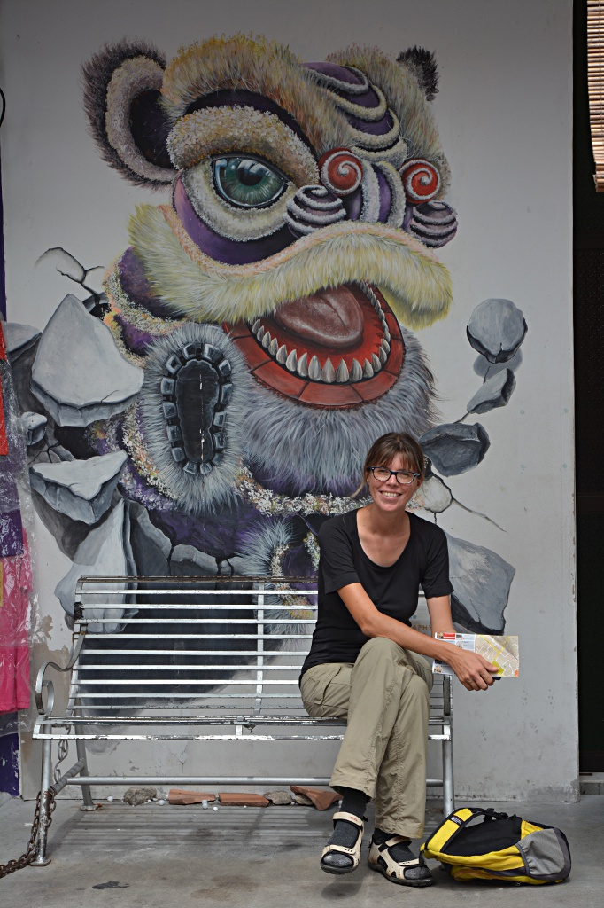 Street art and visitors