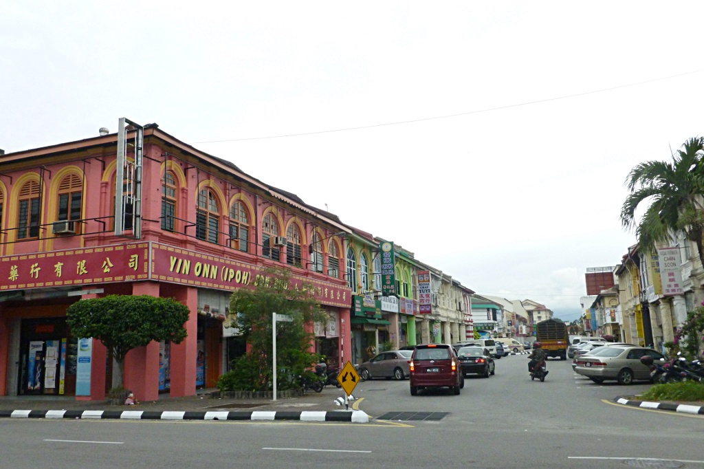 Colorful colonial building in Ipoh