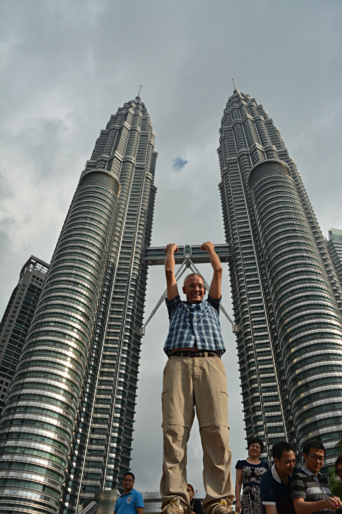 Hanging out at the Petronas Twin Towers