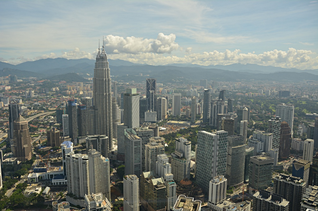 Modern city Kuala Lumpur, here the KLCC