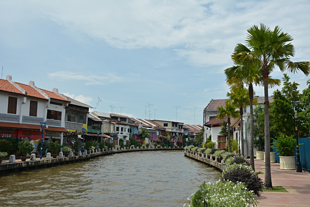 The beautiful banks of Malacca river