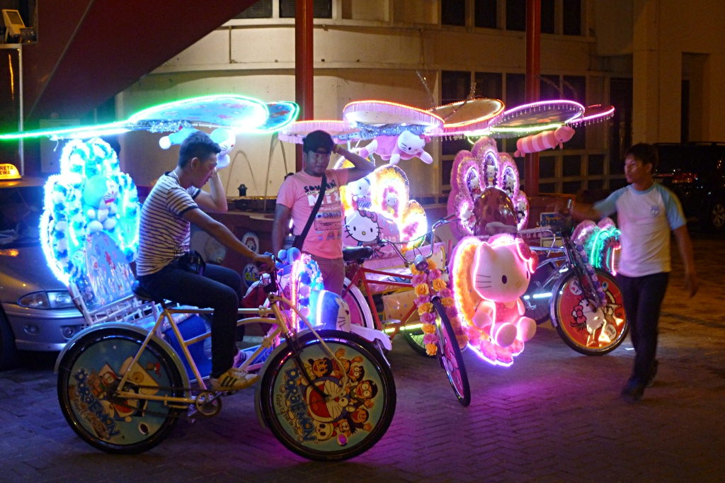 Unique artistic work: trishaws in Malacca